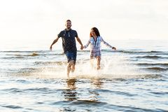 Beautiful couple on the beach Royalty Free Stock Photography