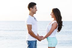 Beautiful couple on the beach Royalty Free Stock Image