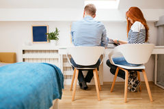 Beautiful couple in a beautiful home Royalty Free Stock Image