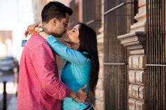 Beautiful couple being romantic Royalty Free Stock Photo