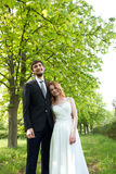 Beautiful couple of bride and groom Royalty Free Stock Images