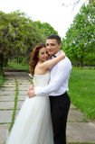 Beautiful couple of bride and groom Stock Photo