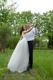 Beautiful couple of bride and groom Stock Image