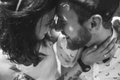 Beautiful couple close up Stock Photo