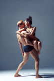 Beautiful couple of dancers stock image