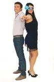 Beautiful couple dancing Stock Photo