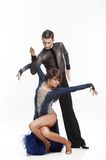 Beautiful couple dancing. Beautiful couple in the active ballroom dance Royalty Free Stock Photos