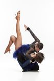 Beautiful couple dancing. Beautiful couple in the active ballroom dance Stock Photography