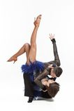 Beautiful couple dancing. Beautiful couple in the active ballroom dance Stock Images