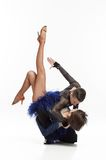 Beautiful couple dancing Royalty Free Stock Image