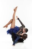 Beautiful couple dancing. Beautiful couple in the active ballroom dance Stock Image