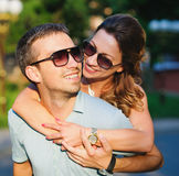 Beautiful couple dating Stock Images