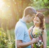 Beautiful couple dating Royalty Free Stock Photo