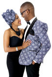 Beautiful Couple Dressed in Traditional African Clothes Stock Photography
