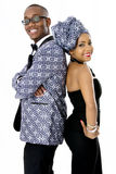 Beautiful Couple Dressed in Traditional African Clothes Royalty Free Stock Photography