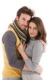 Beautiful couple embracing Stock Images