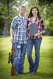 Beautiful Couple. Engagement photos of a couple at the lake Royalty Free Stock Photos