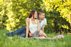 Beautiful couple enjoying in the nature Stock Image