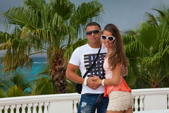 Beautiful couple enjoying vacations Stock Photos