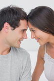 Beautiful couple facing each other Royalty Free Stock Photos