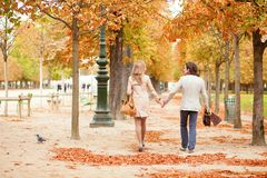 Beautiful couple on a fall day Royalty Free Stock Photos