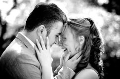 Beautiful couple in grayscale Royalty Free Stock Image