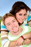 Beautiful couple having fun Stock Images
