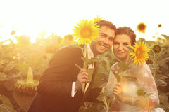 Beautiful couple having fun Stock Photos