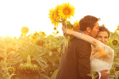 Beautiful couple having fun Royalty Free Stock Photography