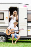 Beautiful couple having a great time outdoors. Royalty Free Stock Photo