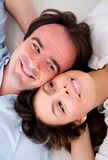 Beautiful couple with heads together Royalty Free Stock Photography