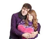 Beautiful couple with heart Royalty Free Stock Photography