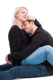 Beautiful couple holding each other with affection Stock Image