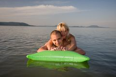 Beautiful couple in holiday Royalty Free Stock Photography