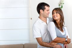 Beautiful couple at home Royalty Free Stock Images