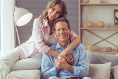 Beautiful couple at home Royalty Free Stock Photo