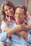 Beautiful couple at home Stock Image
