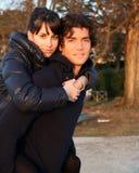 Beautiful couple hug Stock Images