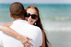 Beautiful Couple Hugging Stock Images