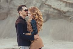 Free Beautiful Couple In Love On Valentine`s Day. Happy Young Couple Royalty Free Stock Photography - 99736037