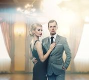 Beautiful couple indoors Royalty Free Stock Photos