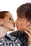 Beautiful couple kissing Royalty Free Stock Photography