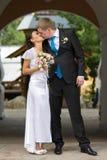Beautiful couple kissing Stock Image