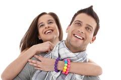 beautiful couple laughing young 库存图片