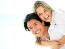 Beautiful couple looking happy Royalty Free Stock Images