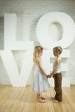 Beautiful couple - love background Royalty Free Stock Photos