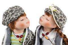 Beautiful couple in love dolls stock image