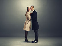 Beautiful couple in love embracing Royalty Free Stock Images