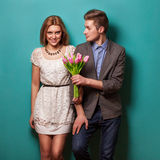 Beautiful couple in love royalty free stock photography