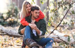 Beautiful couple in love stock images